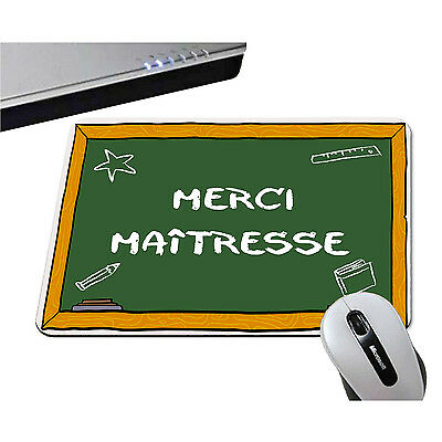 Abile Tapis De Souris - Merci MaÎtresse - Ecole Maternelle Primaire - Ordinateur Pc