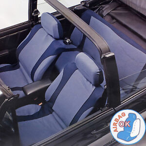 Image Is Loading 10pc Light Amp Navy Blue Car Seat Covers