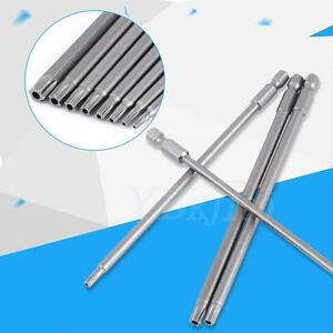 150mm 8pcs S2 Steel Star Head Screwdriver Set Bits Hand Tools Magnetic Screw Driver Set for Manual or Electric Screwdriver