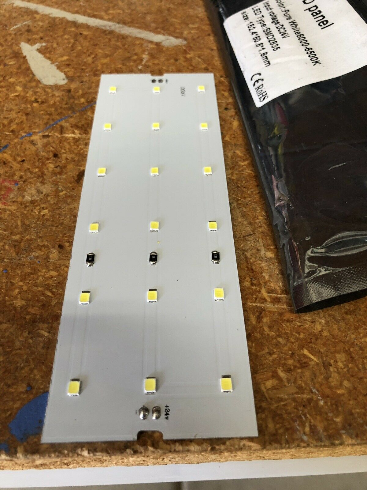 "(50) 1.5"" X 6"" LED panel Lights W  power Adapter"