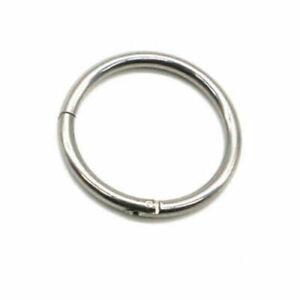 Surgical-Steel-Hinge-Segment-Nose-Septum-Clicker-Ear-Helix-Tragus-Ring-Hoop-B
