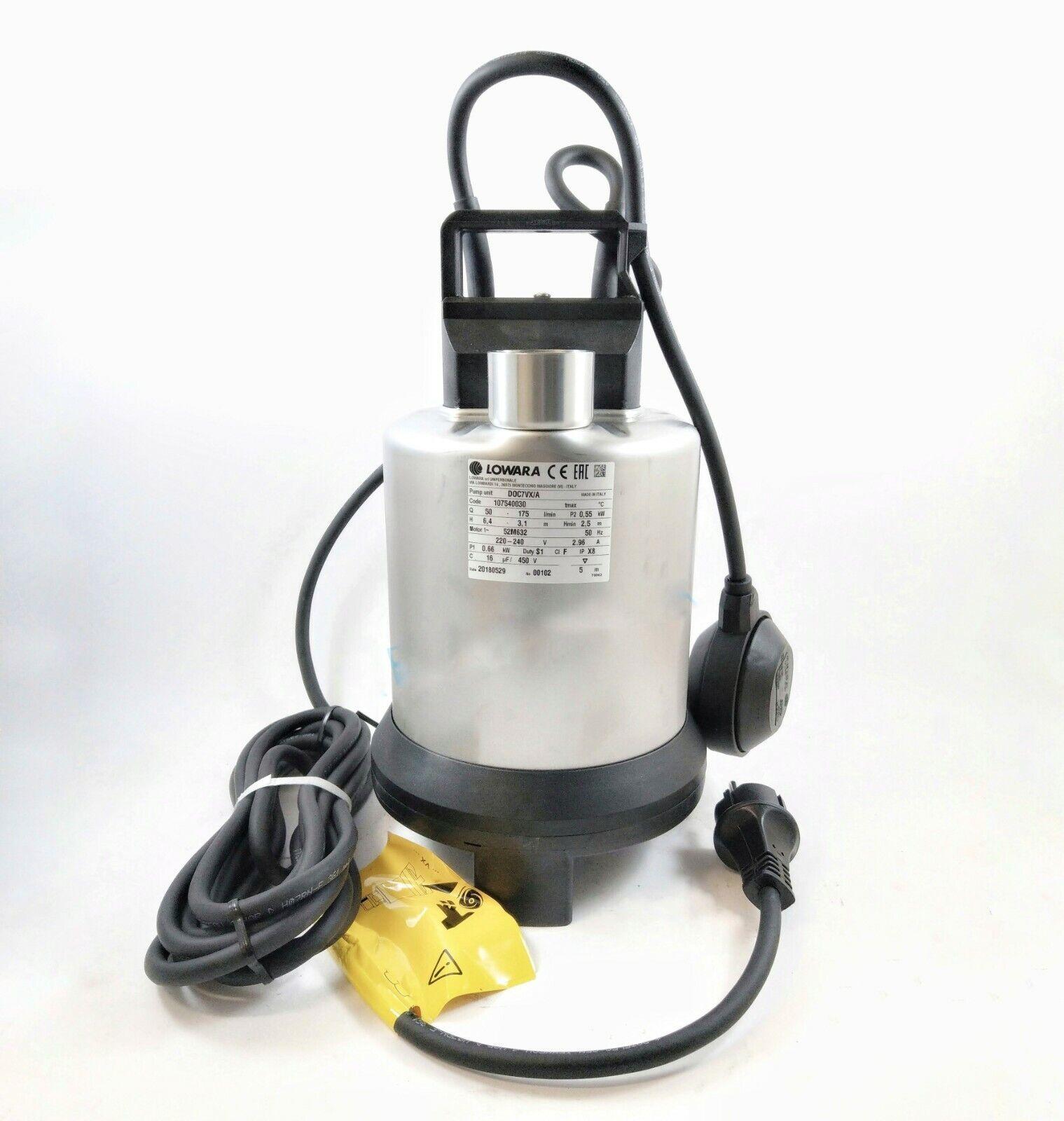 Pompa Sommersa acque sporche Lowara DOC 7 VXA con interruttore a galleggiante