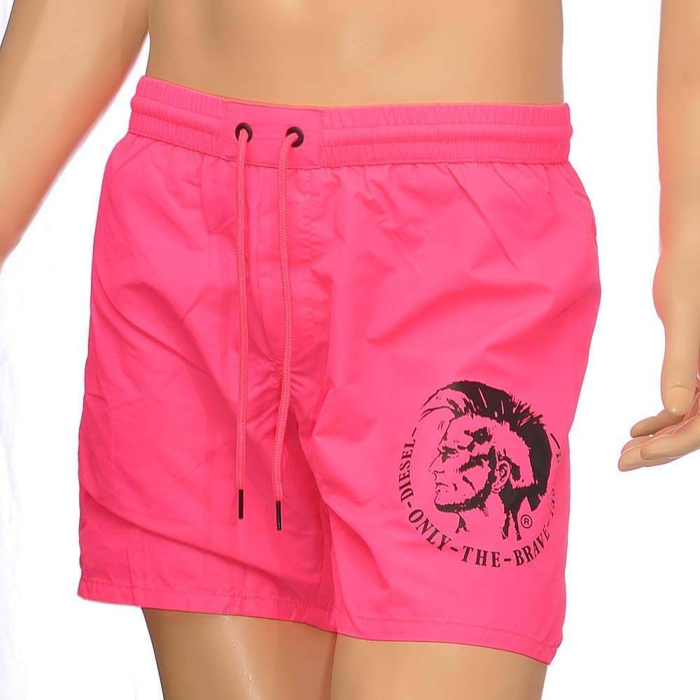 Diesel Men's BMBX Wave E Mohawk Swim Shorts, Pink. Sun, Beach, Pool Swimwear