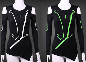 Image is loading Video-Game-Movie-Disney-Tron-Legacy-Quorra-Shirt- & Video Game Movie Disney Tron Legacy Quorra Shirt Cosplay Costume T ...