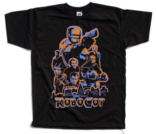 Robocop T SHIRT YELLOW ORANGE KHAKI WHITE all sizes S to 5XL movie poster