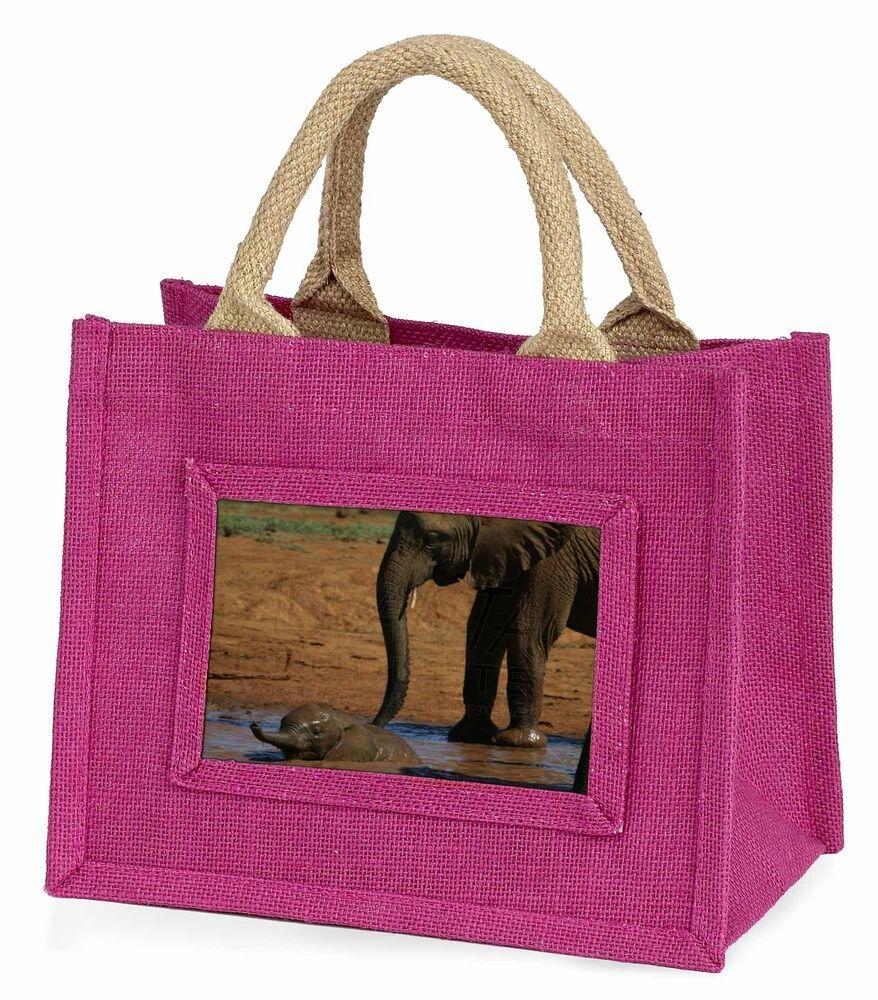 2019 DernièRe Conception Elephant And Baby Bath Little Girls Small Pink Shopping Bag Christmas G, Ae-8bmp Nous Avons Gagné Les éLoges Des Clients