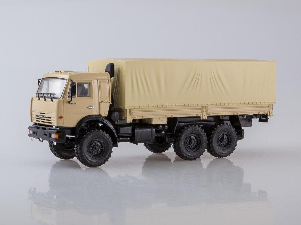 Modelo de escala camión 1 43 Kamaz - 43118 6x6 integrado con toldo