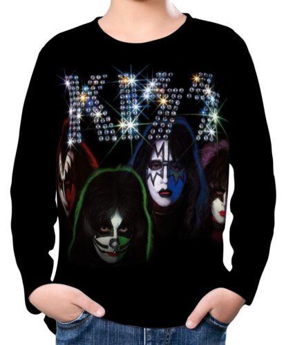 Kiss Boy Kid Long Sleeve T-Shirt Tee Age 3-13 ael20018