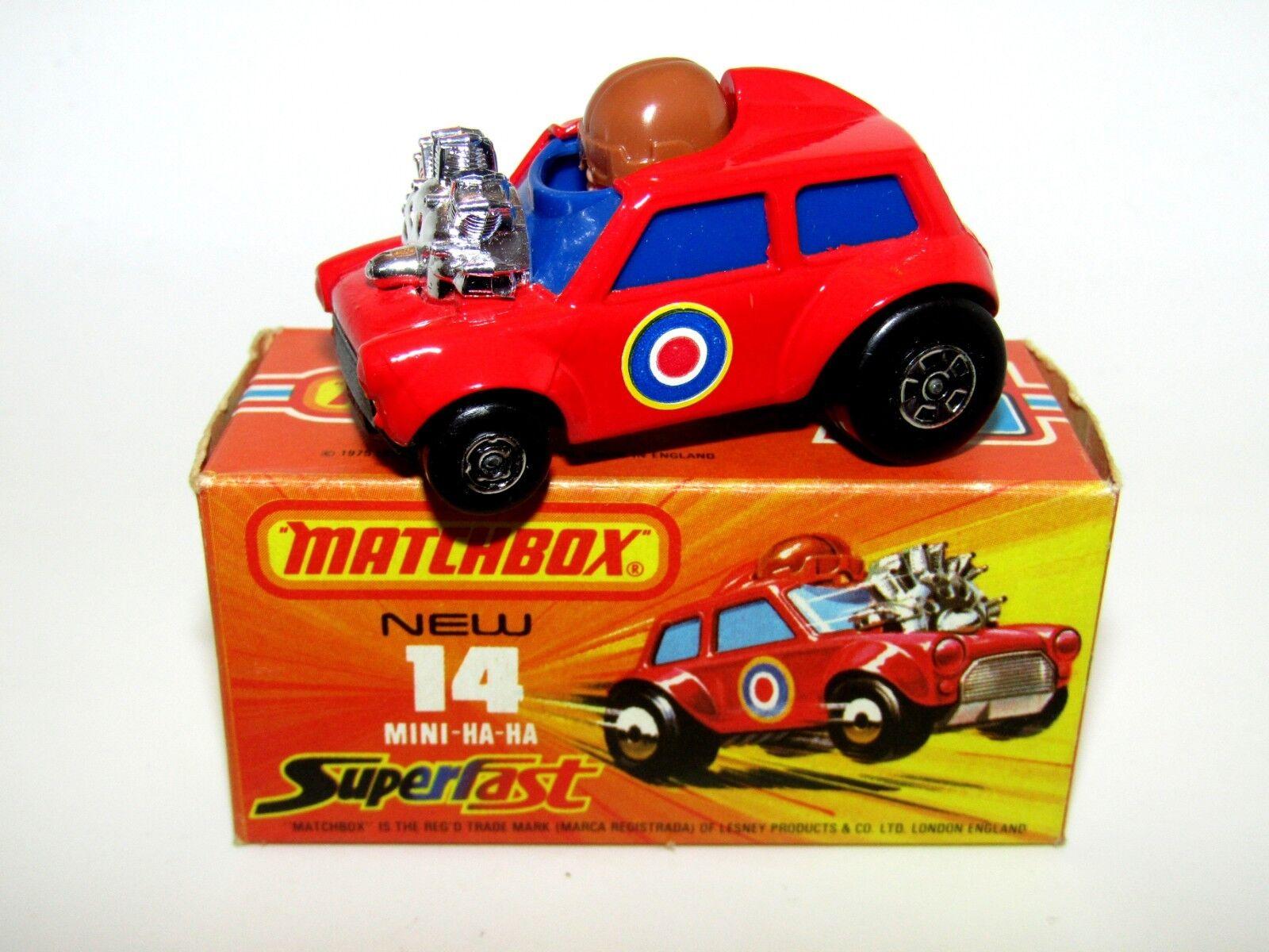 MATCHBOX SUPERFAST nº 14 MINI HA-HA très Bleu Foncé Verre Verre Verre En parfait état, dans sa boîte très rare 14f2aa