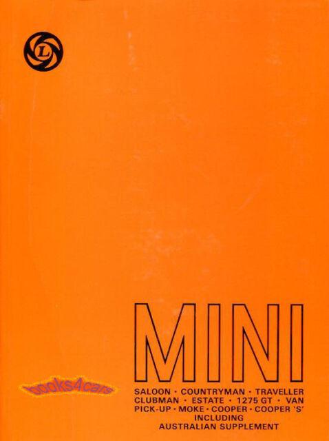 Shop Manual Mini Service Repair Book Cooper Austin Morris
