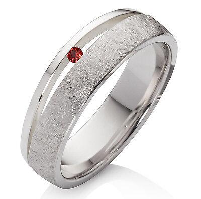 Verlobungsring Aus 925 Silber Damenring Mit Echtem Granat Und Ring Gravur Sdg43