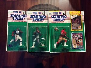 Starting Lineup 1990 Lot Randall Cunningham Rodger Craig Neal Anderson New