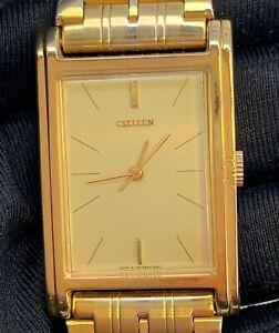 Citizen-75-4421-Funktionstuechtig-Kal-2340A-Vintage-Seil-Manual-24-5mm-Gold-Tone