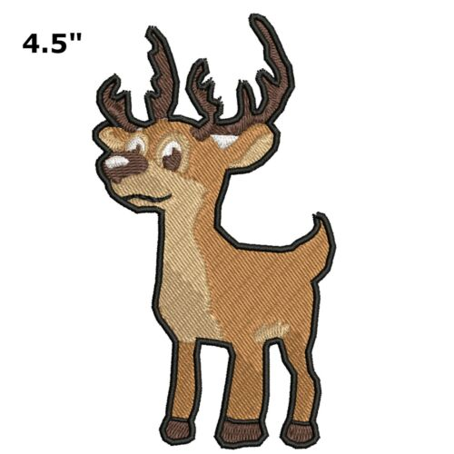 Deer Buck Iron or Sewn-On Embroidered Applique Patch Cute Critters Animals Parks