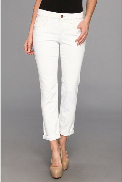 NEW ANTHROPOLOGIE JOE'S JEANS WHITE HIGH WATER CROPPED JEANS SZ 30