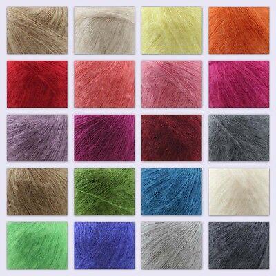Sale 1 ball MOHAIR 50/% Angora goats Cashmere 50/% silk Yarn Knitting Pink
