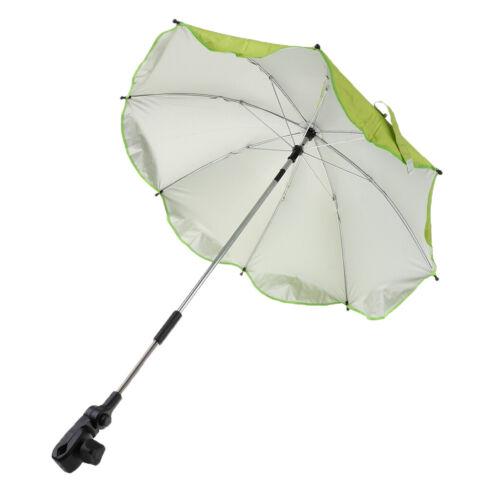 Wasserdicht Sonnenschirm Ampelschirm Gartenschirm mit Universal Klemme Grün