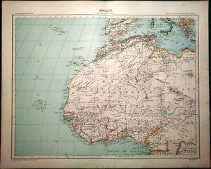Africa Occidentale Cartina Geografica.Carta Geografica Antica Africa Nord Ovest Marocco Algeria 1891 Old Antique Map Ebay