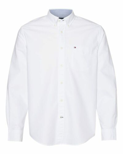 Tommy Hilfiger 100/% Cotton Sizes S-3XL Men/'s New England Solid Oxford Shirt