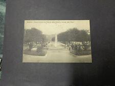 CARTOLINA BERGAMO FONTANA STAZIONE FERROVIE VIAGGIATA DEL 1915 SUBALPINA AAA