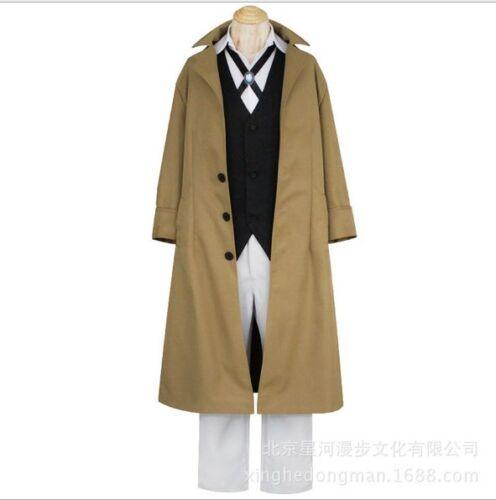 Bungo Stray Dogs Osamu Dazai Full Set Uniform Cosplay Costume Anime Clothing