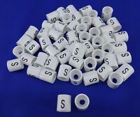 S Hanger Garment Size Marker Tag Small Sizer 50 Pieces Retail Store