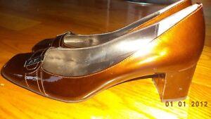 Anne-Klein-DOMINIQUE-Iflex-Brown-Leather-Heels-Women-039-s-Shoes-Size-8-M