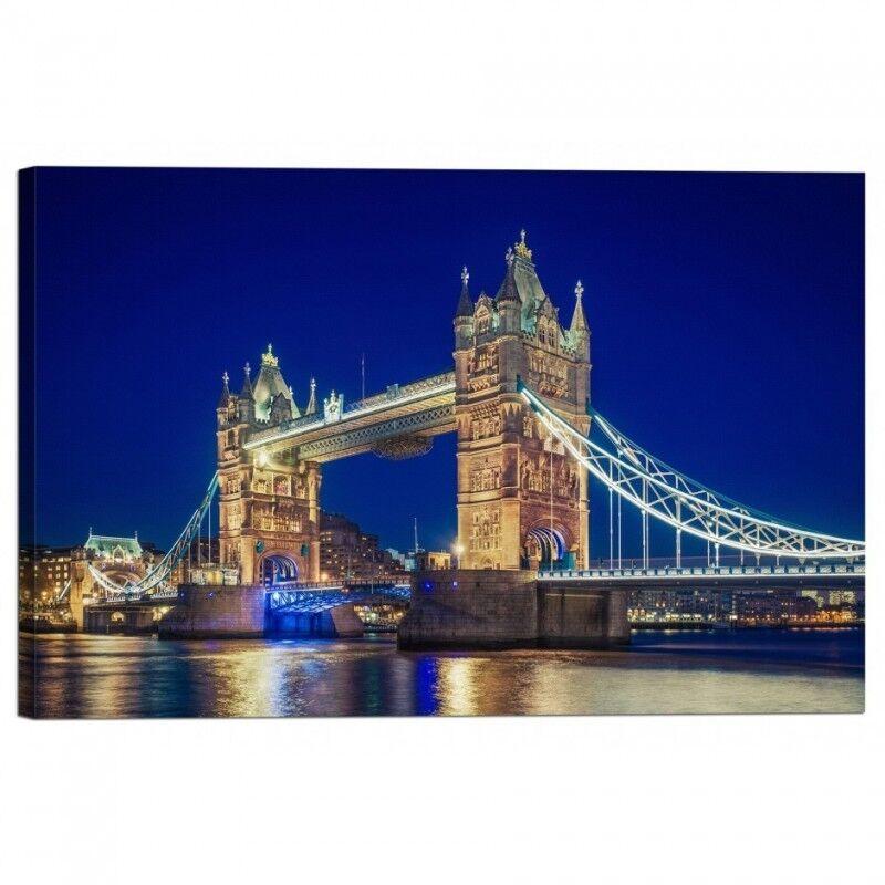 Quadro Stampa su Tela con Telaio Tower Bridge Londra
