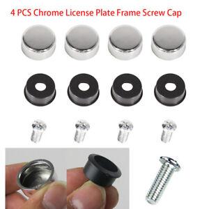 4pcs//set TOYOTA decal Chrome bolt cover License Plate Frame Screw Caps
