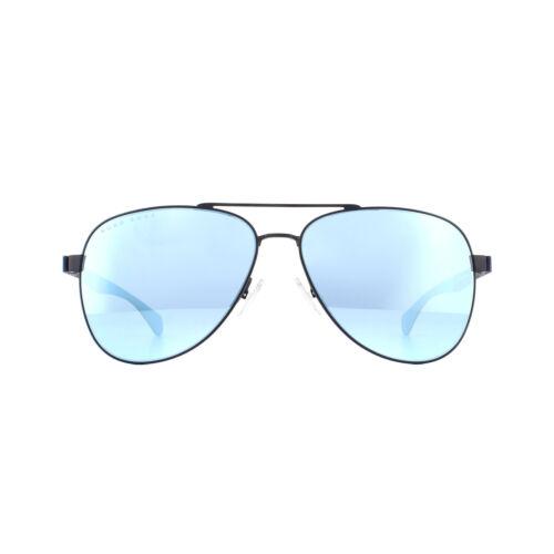 Hugo Boss Sunglasses BOSS 1077//S FLL 3J Matte Blue Blue Mirror