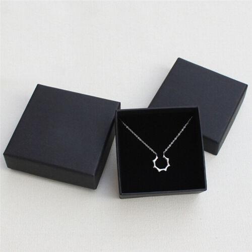 Schwarze Schmuckschatulle aus Kraftpapier Ohrring für Halskette Armband
