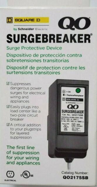 SQUARE D / SCHNEIDER ELECTRIC QO2175SB SURGEBREAKER SURGE PROTECTIVE DE