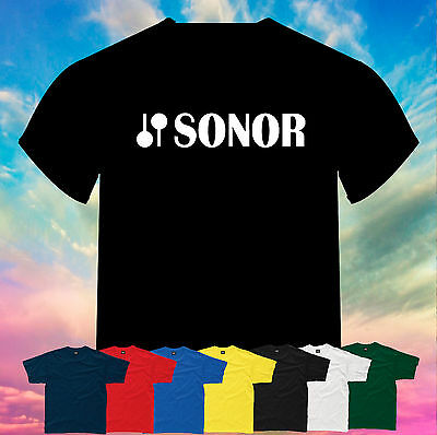 Sonor Drums Logo Printed T-Shirt Size, Print and Color Choice