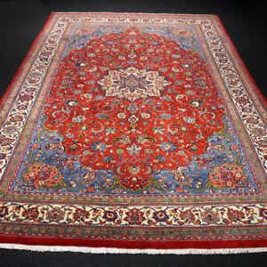 2019 Mode Orient Teppich Rot 306 X 220 Cm Perserteppich Beige Blau Handgeknüpft Red Carpet Senility VerzöGern