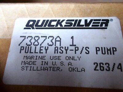 NEW OEM Mercruiser power steering pump P//S V Belt pulley 73873A1 710-73873A 1