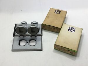Lot-Of-2-Circle-F-Industries-584-A-Duplex-Twin-Cover