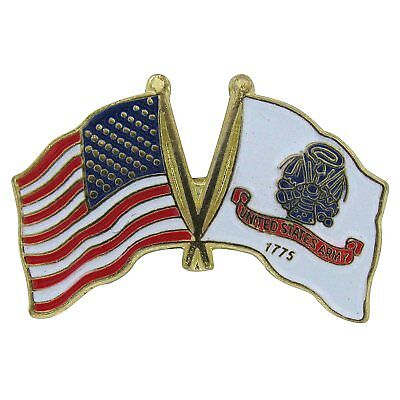 USA /& Navy Ship Flag Friendship Crossed Flags Lapel Hat Pin Made in USA