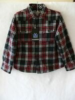 Micros Shirt Fleece Lined Shirt Jacket - Boys Sz. 5 6 7 Black/red - Riff