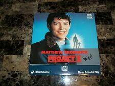Matthew Broderick Rare Authentic Hand Signed Project X Laserdisc Movie Film REAL