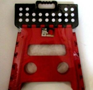 Grip 54090 Foldable Step Stool Large New Red Ebay