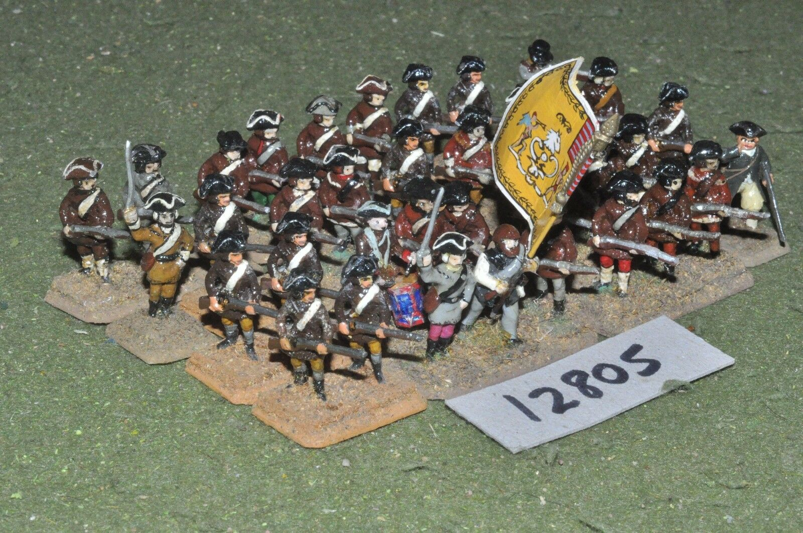 25mm AWI   american - infantry 36 figs - inf (12805)