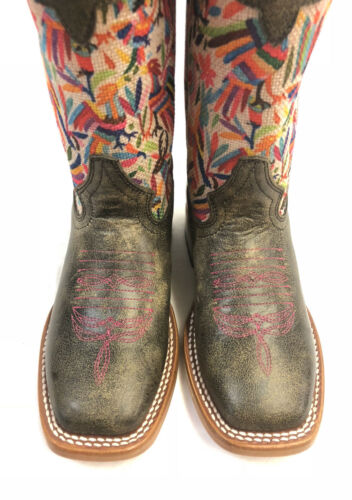 Otomi Print Top w//Black Cracktacular Vamp-Style MK9133 Kids Macie Bean Boots