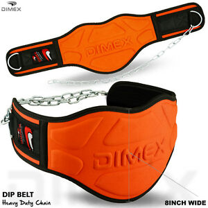 Dipping-Belt-Body-Building-Weight-Lifting-Dip-8-034-Wide-Chain-Exercise-Gym