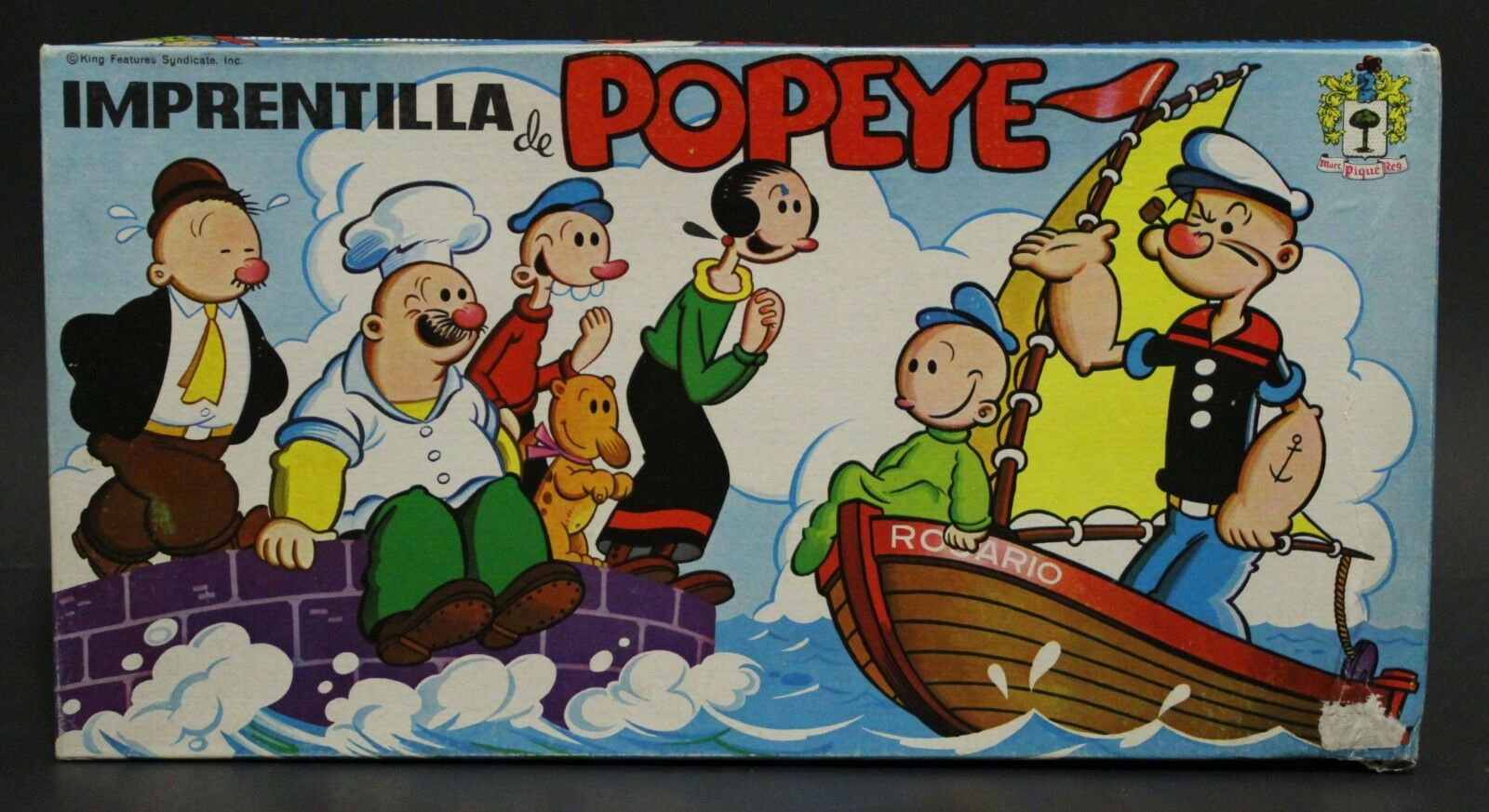1970's Piqué King Features Syndicate POPEYE LITTLE PRINTERY Spanish vintage toy