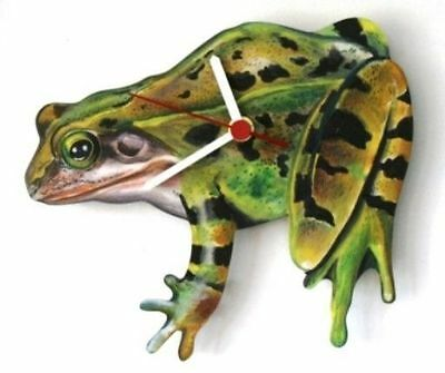 Frog Leaping Design Wall Clock Made In UK Gift Boxed