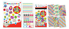 Kids Create Reward Sticker Pad 10 A4 Sheets, Over 1000 bright colourful stickers