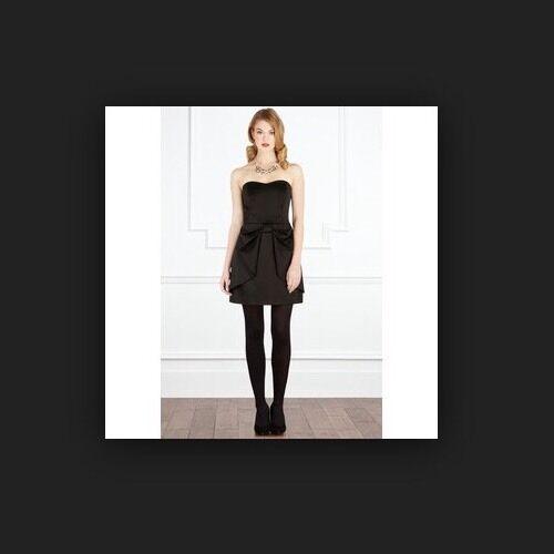 BNWT BNWT BNWT COSTA     Taglia 16 Charlize Ottomano fiocco nero vestito sera party matrimoni XL 0b8918