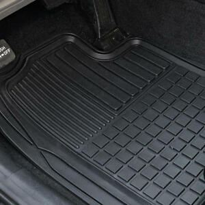 Heavy Duty Trim Fit Rubber Car Floor Mats Grid Trapping Design