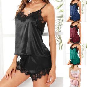 Lingerie-Lady-Women-Silk-Lace-Robe-Dress-Babydoll-Nightdress-Nightgown-Sleepwear