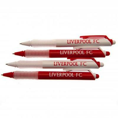 Liverpool Football Club Official 4 Pack Of Pen Stationery School Fan Soft Grip